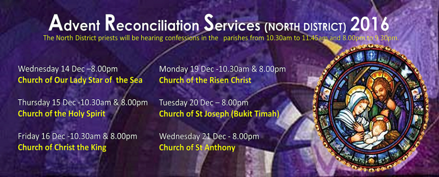 Advent Reconciliation Services (North District) 2016