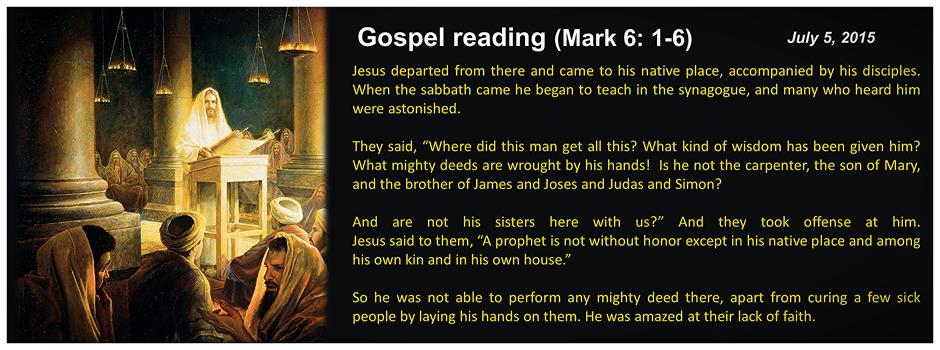 Sunday Gospel Reading