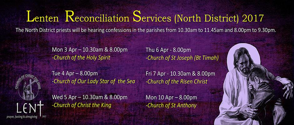 Lenten Reconciliation Services (North District) 2017