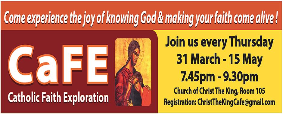 CaFE (Catholic Faith Exploration) 2016