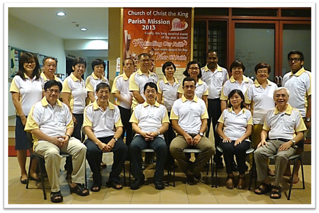 Photo No 10_Core Team with Redemptorist Fr. Philip Lai & Fr. Peter Wee