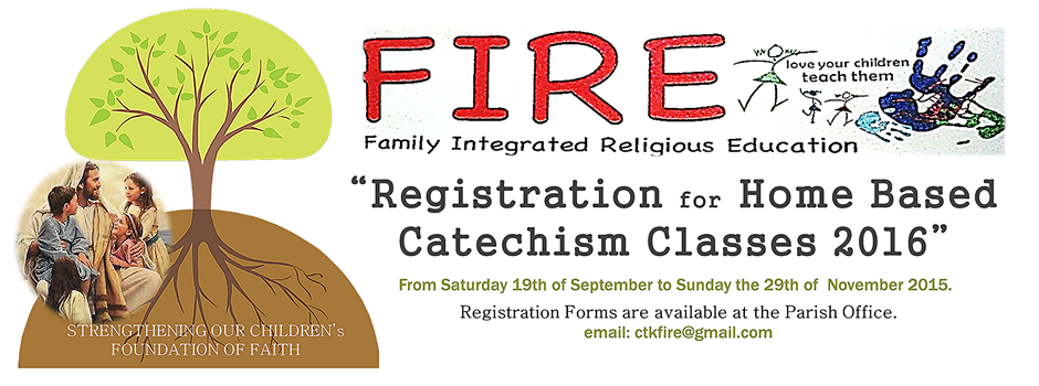 F.I.R.E. Registration 2016 for home based Catechism