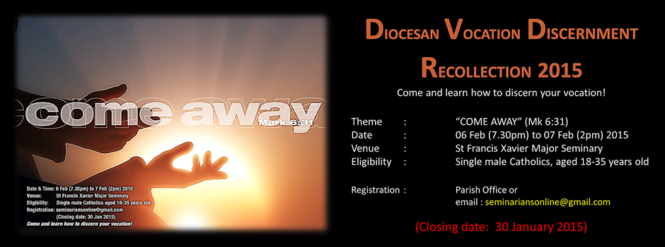 Diocesan Vocation Discernment Recollection 2015