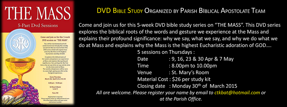 The Mass – A DVD Bible Study organized by BAT