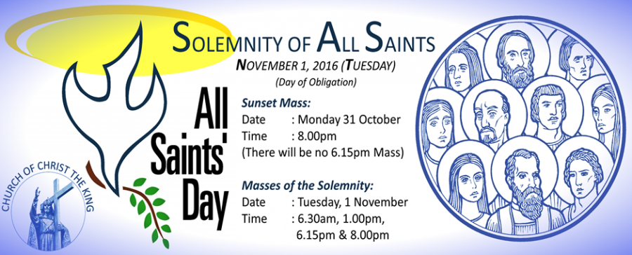 Solemnity of All Saints (Day of Obligation)