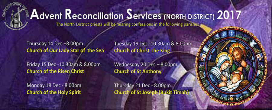 Advent Reconciliation Services (North District) 2017