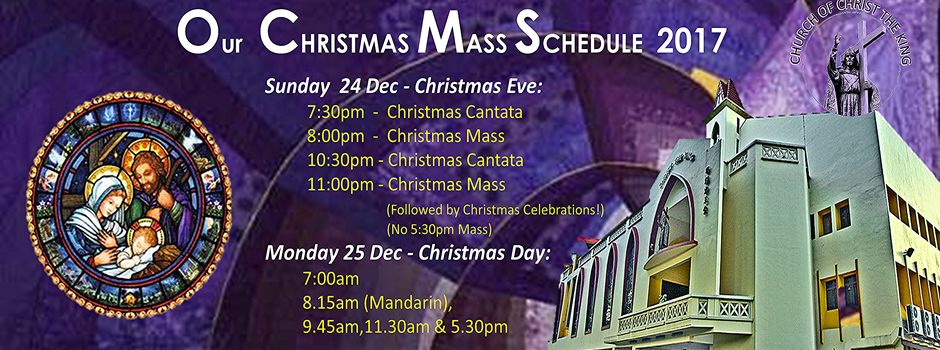 Our Christmas Mass Schedule – 2017