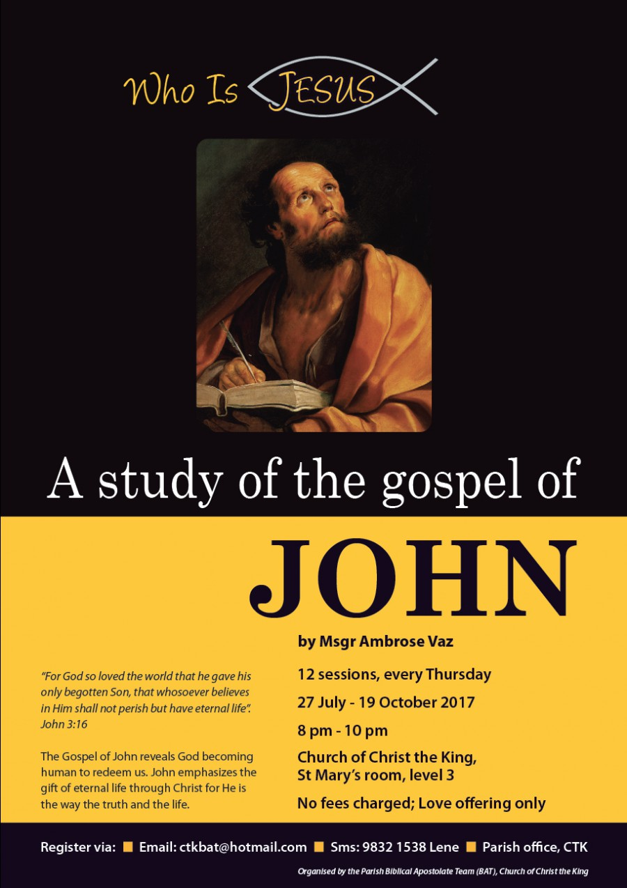 Bible Study – Gospel of John by Msgr Ambrose Vaz