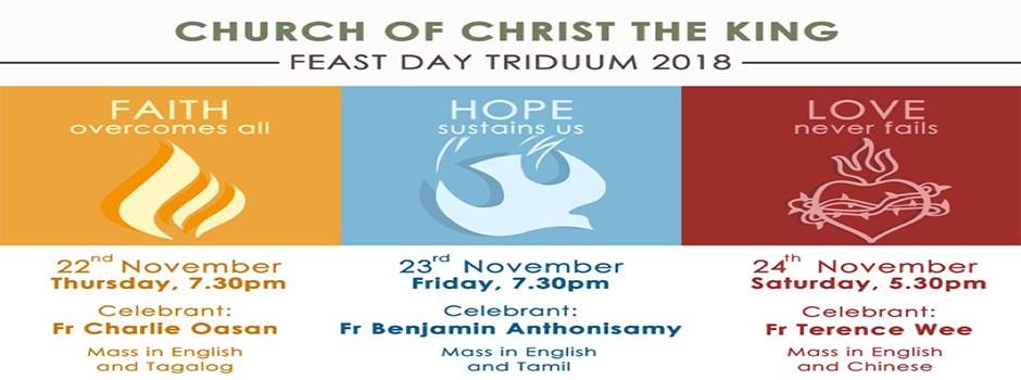 Feast Day Triduum 2018