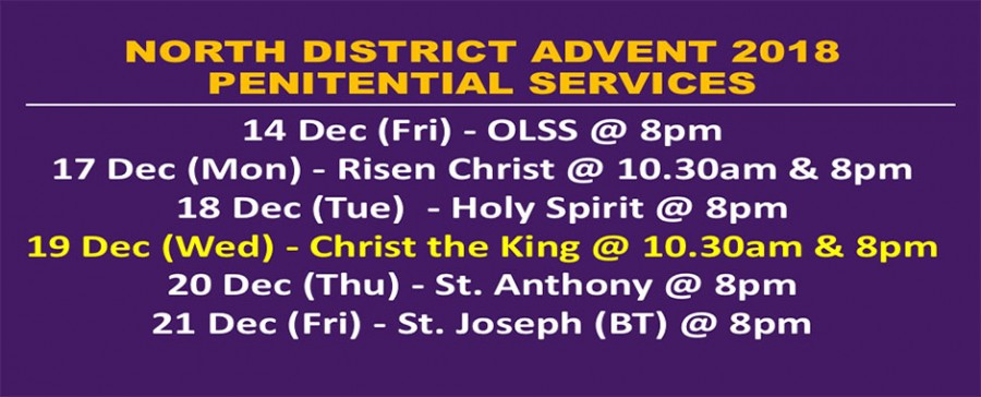Advent 2018 Penitential Services (North District)