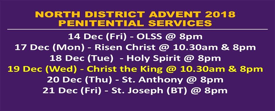Advent 2018 Penitential Services