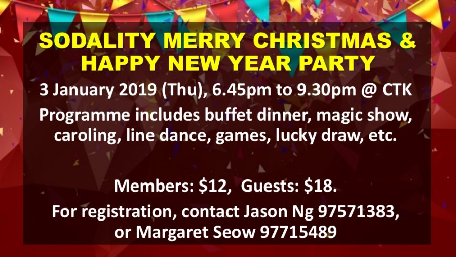 Sodality Christmas and New Year Party
