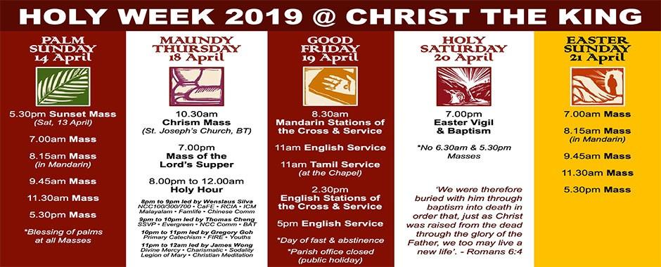 Holy Week 2019